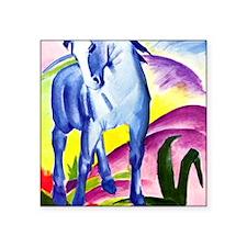 "Franz Marc - Blue Horse I Square Sticker 3"" x 3"""