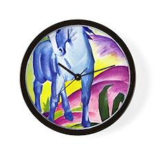 Franz Marc - Blue Horse I Wall Clock