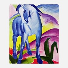 Franz Marc - Blue Horse I Throw Blanket