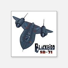 "Blackbird-10 Square Sticker 3"" x 3"""