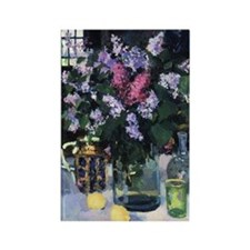 Boris Kustodiev - Lilacs Rectangle Magnet