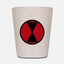 7th Infantry Division Shot Glass