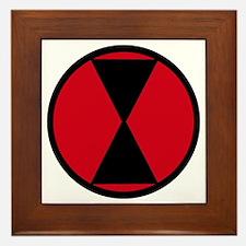 7th Infantry Division Framed Tile