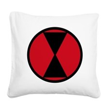 7th Infantry Division Square Canvas Pillow