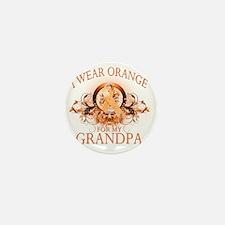 I Wear Orange for my Grandpa (floral) Mini Button
