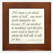 No Man Is An Island Framed Tile