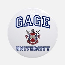 GAGE University Ornament (Round)