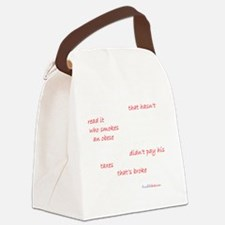 What Could Go Wrong Dark Canvas Lunch Bag
