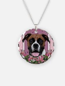 PinkTulips_Boxer_Mousepad Necklace