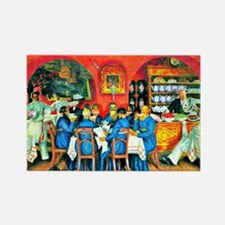 Kustodiev: Moscow Tavern Rectangle Magnet