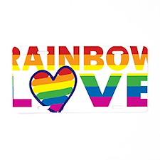 Raind Bow Love Heart Black  Aluminum License Plate