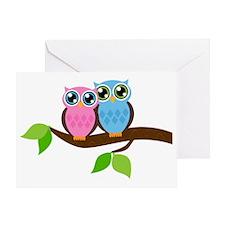 Owl Couple Greeting Card
