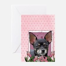 PinkTulips_Chihuahua_Journal5x8 Greeting Card