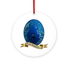 marine mammal rescue shirt.gif Round Ornament