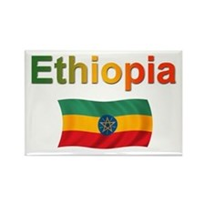 Ethiopia Flag Rectangle Magnet