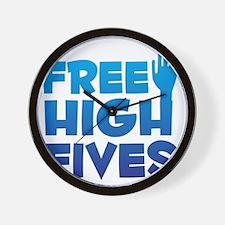 freehighfives Wall Clock