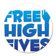 freehighfives Round Car Magnet