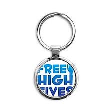 freehighfives Round Keychain