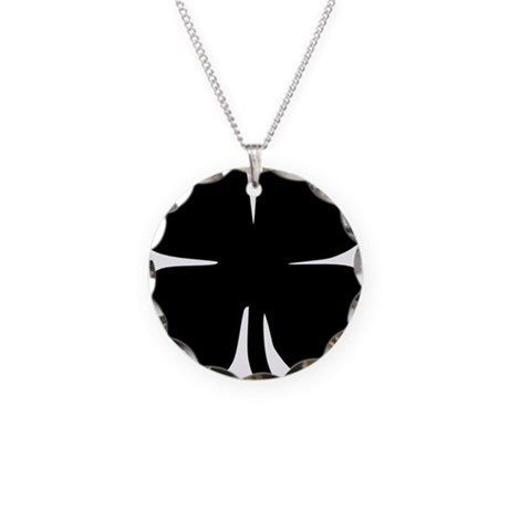 black clover necklace circle charm by admin cp20817702