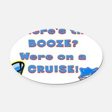 cruise221 Oval Car Magnet