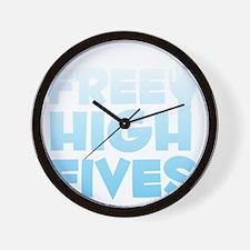 freehighfives2 Wall Clock