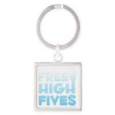 freehighfives2 Square Keychain