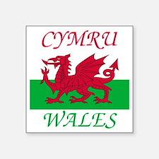 "Wales-Cymru Square Sticker 3"" x 3"""