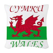 Wales-Cymru Woven Throw Pillow