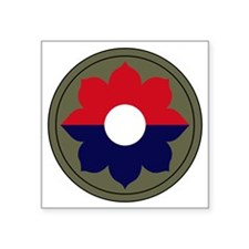 """9th Infantry Division Square Sticker 3"""" x 3"""""""