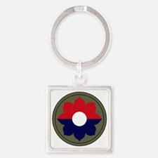 9th Infantry Division Square Keychain