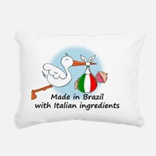 stork baby it braz Rectangular Canvas Pillow