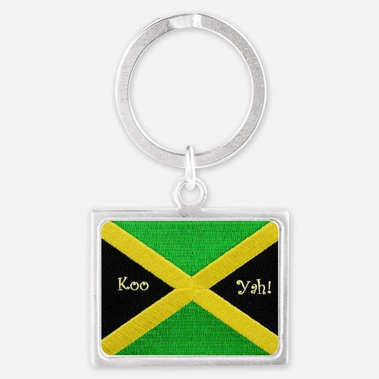 KooYah_Ja_Flag_Patch Landscape Keychain