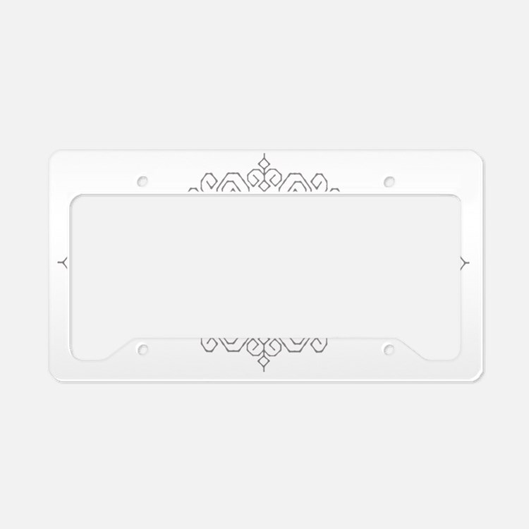 TwilightWhite License Plate Holder