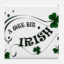 A Wee Bit  Irish Shamrocks Tile Coaster