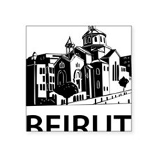 "beirut1 Square Sticker 3"" x 3"""