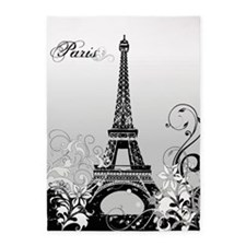 Eiffel Tower Paris (b/w) 5'x7'area Rug