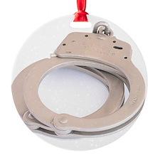 Handcuffs Round Ornament