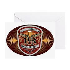 sticker_oval Greeting Card
