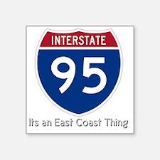 "Highway95 Square Sticker 3"" x 3"""