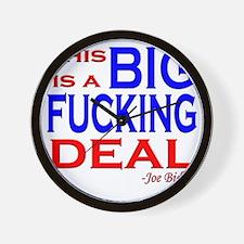 joe big deal fucking Wall Clock