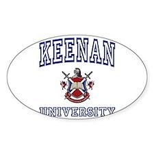 KEENAN University Oval Decal