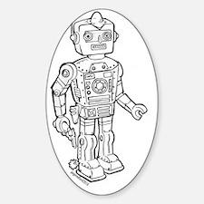 cowboy robot Sticker (Oval)