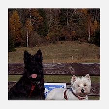 Scottie and Westie Tile Coaster