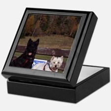 Scottie and Westie Keepsake Box
