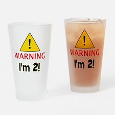 warningim2 Drinking Glass