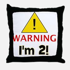 warningim2 Throw Pillow