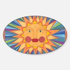 El Sol Sticker (Oval)