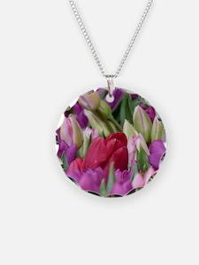 Multi-colored Tulips Necklace