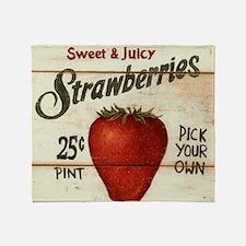 strawberries-posters Throw Blanket
