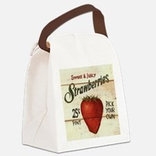 strawberries-posters Canvas Lunch Bag